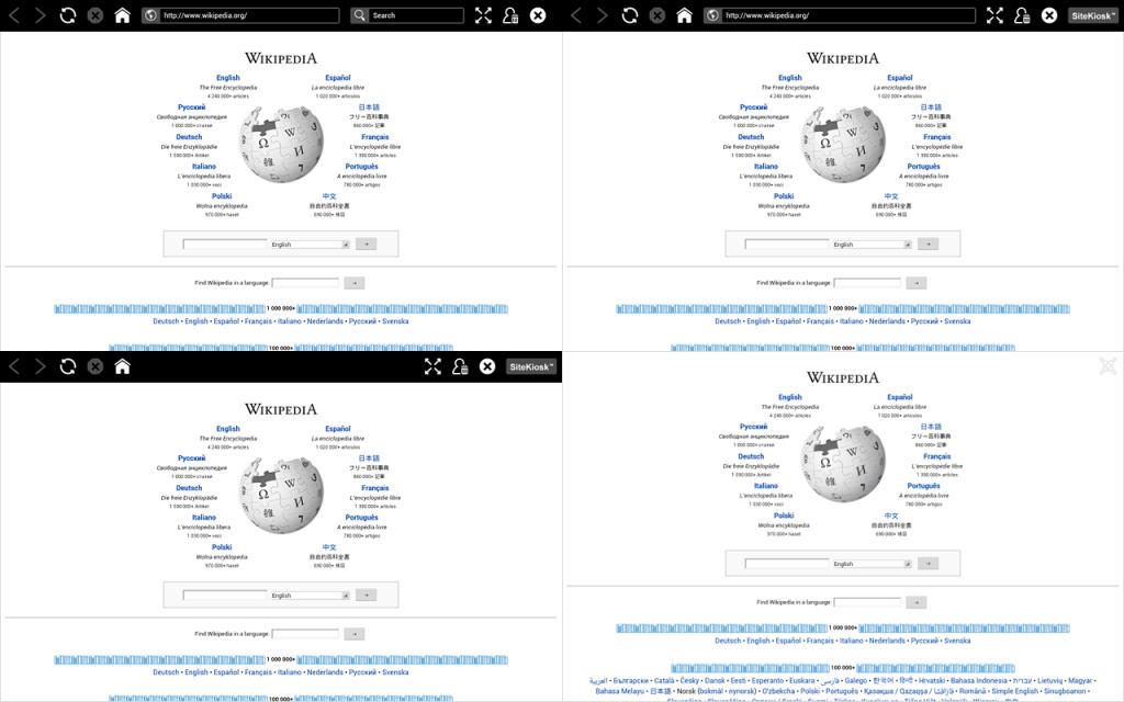 Interfejs przeglądarki jest oparty na otwartej technologii internetowej i można go dowolnie dostosowywać dzięki znajomości języka HTML. Aktualna wersja zawiera 4 nowe motywy (skórki: jasna, ciemna, węglowa, metalowa), a teraz oferuje również możliwość tworzenia i używania własnych projektów.
