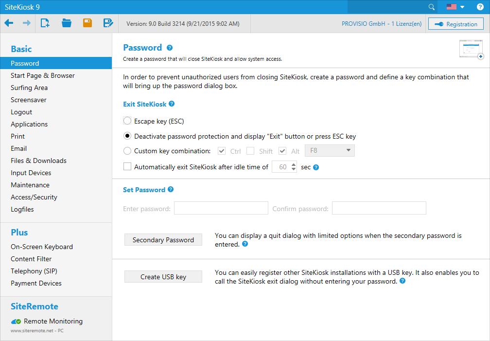 Narzędzie konfiguracyjne SiteKiosk przeprowadzi Cię przez każdy etap konfiguracji. Nie wymaga umiejętności programistycznych.