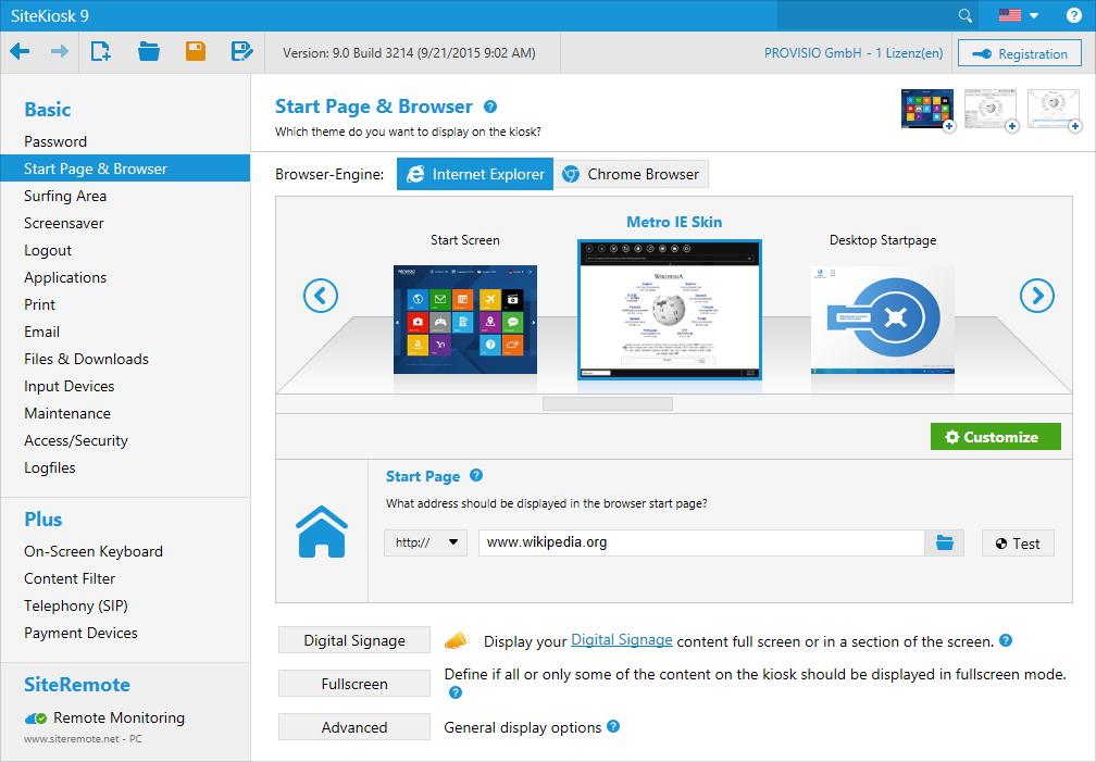 Interfejs przeglądarki można dostosować do indywidualnych wymagań, ponieważ jest oparty na technologiach internetowych o otwartym kodzie źródłowym.