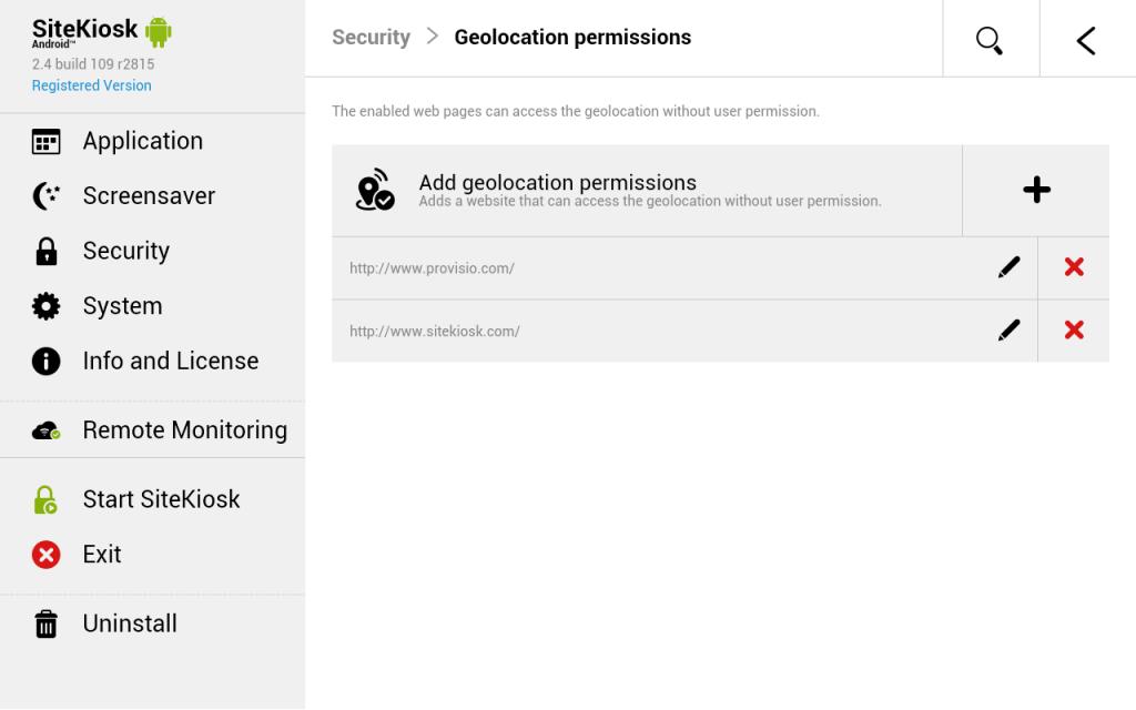 Opcjonalnie, pozycja GPS twoich tabletów zostanie wysłana na konto SiteRemote Server w celu śledzenia ich lokalizacji.